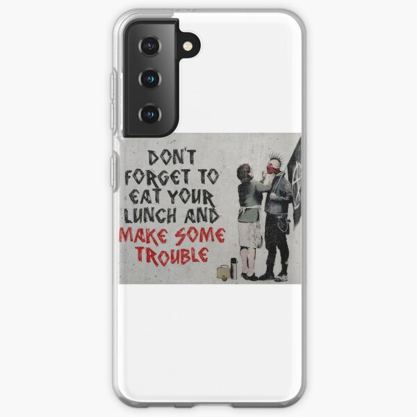 Banksy, anarquista Funda blanda para Samsung Galaxy