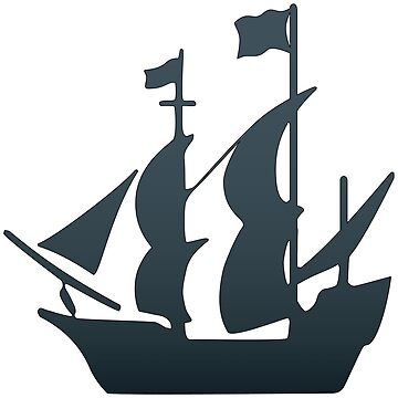 Pirate Ship Sticker by pirateslife