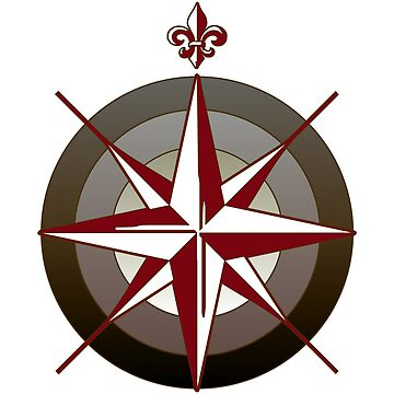 Compass Rose Sticker by pirateslife