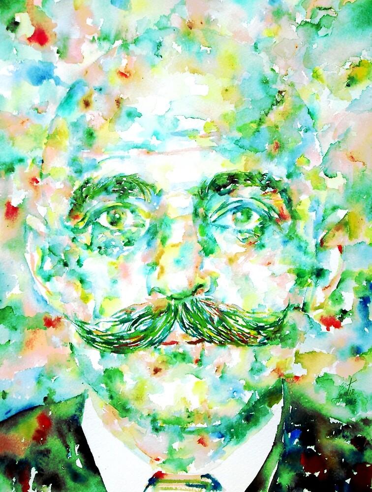 GURDJIEFF - watercolor portrait by lautir