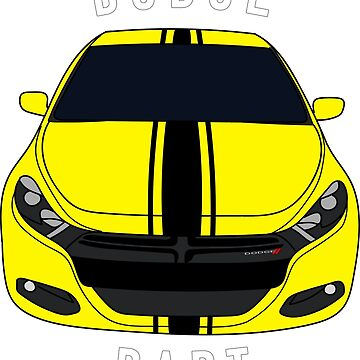 Dodge Dart Custom Citrus Peel Racing Stripe Front End by Jessimk