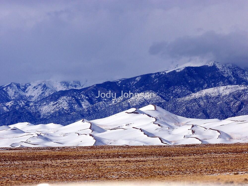 Dunes in Snow by Jody Johnson
