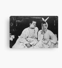 Laurel und Hardy Leinwanddruck