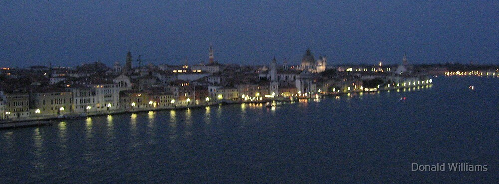 Across the Guidecca Canal at twilight, Venice, 2007 by Donald Williams