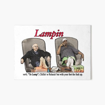 Lampin - Curb Your Enthusiasm Art Board Print