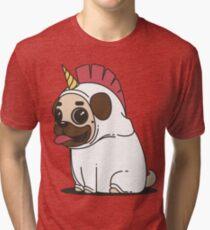 Unicorn Pug Tri-blend T-Shirt
