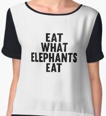 Eat What Elephants Eat Women's Chiffon Top