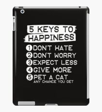 5 Keys To Happiness : Pet A Cat iPad Case/Skin