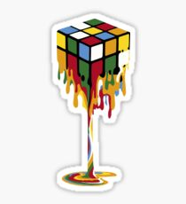 Melting Rubik's Cube Sticker