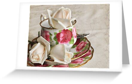 Cup  o´roses by Heather Thorsen