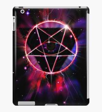 Space Demon 2049 - Evil Synthwave Sigil iPad Case/Skin