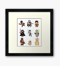 8-Bit Party Framed Print