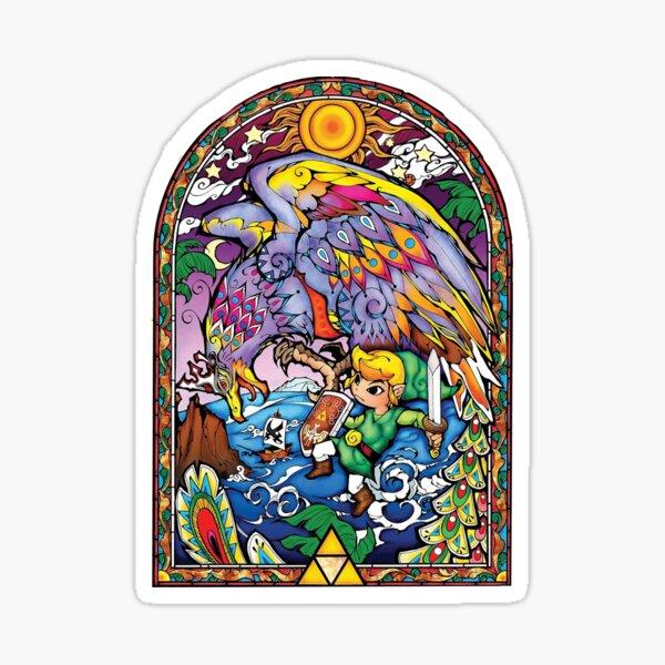 Zelda stained glass (Beautiful) Sticker