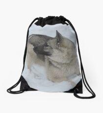 Bed Of Snow Drawstring Bag