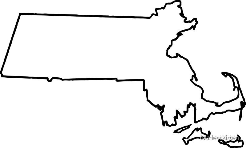 25758676 Massachusetts White Outline
