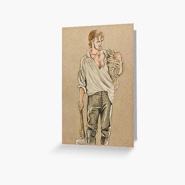 Jamie Fraser, Captain of the Artemis Greeting Card