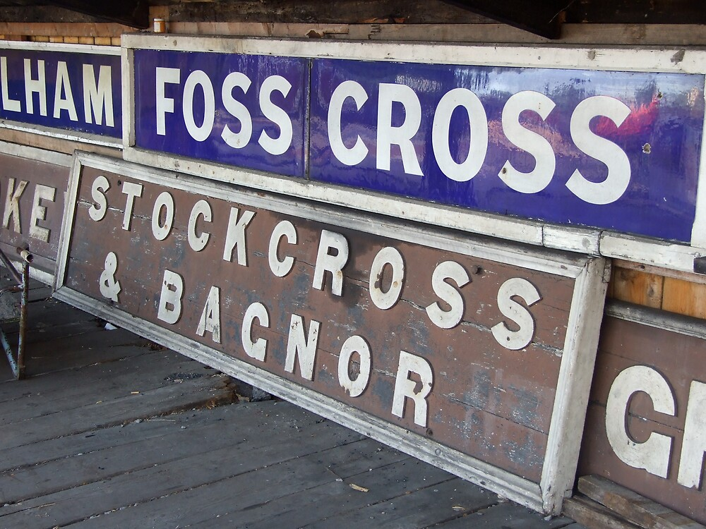 GWR station signs, Didcot Railway Centre by sassygirl