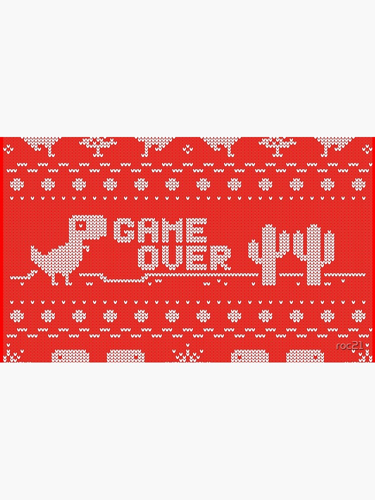 Game Over of a dinosaur de roc21