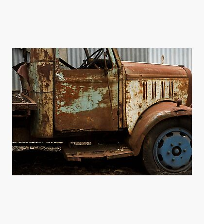 The rusty old farm truck  - Bridgetown, Western Australia Photographic Print