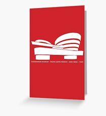 Guggenheim Museum Frank LLoyd Wright Architecture Tshirt Greeting Card