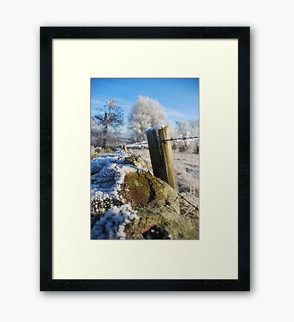 frozen  post Framed Print