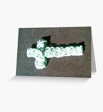 Double Cross Greeting Card