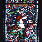 Stained glass window, St Mary's, Lindisfarne (Holy Island) Church by newbeltane