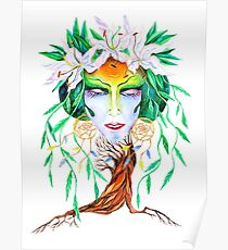 Willow tree. Forest dryad Poster