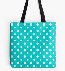 Aqua Blue Irregular Dots Tote Bag