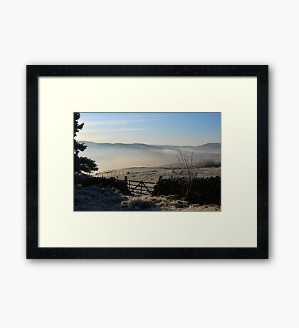 over the gate Framed Print