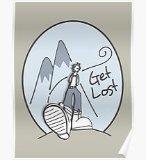 Get Lost Wanderer Cartoon  Poster