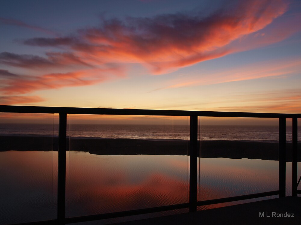 Near Twillight Reflections by M L Rondez