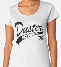 76 Plymouth Duster - White Outline Women's Premium T-Shirt