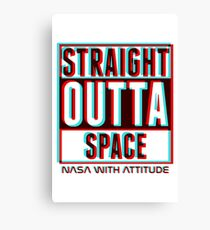 3D Straight Outta Space 2  Canvas Print
