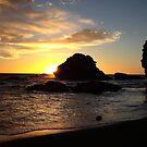 Sunset beach. by Francisco Larrea