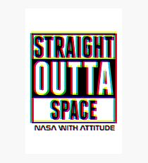 CMYK Straight Outta Space 2 Photographic Print