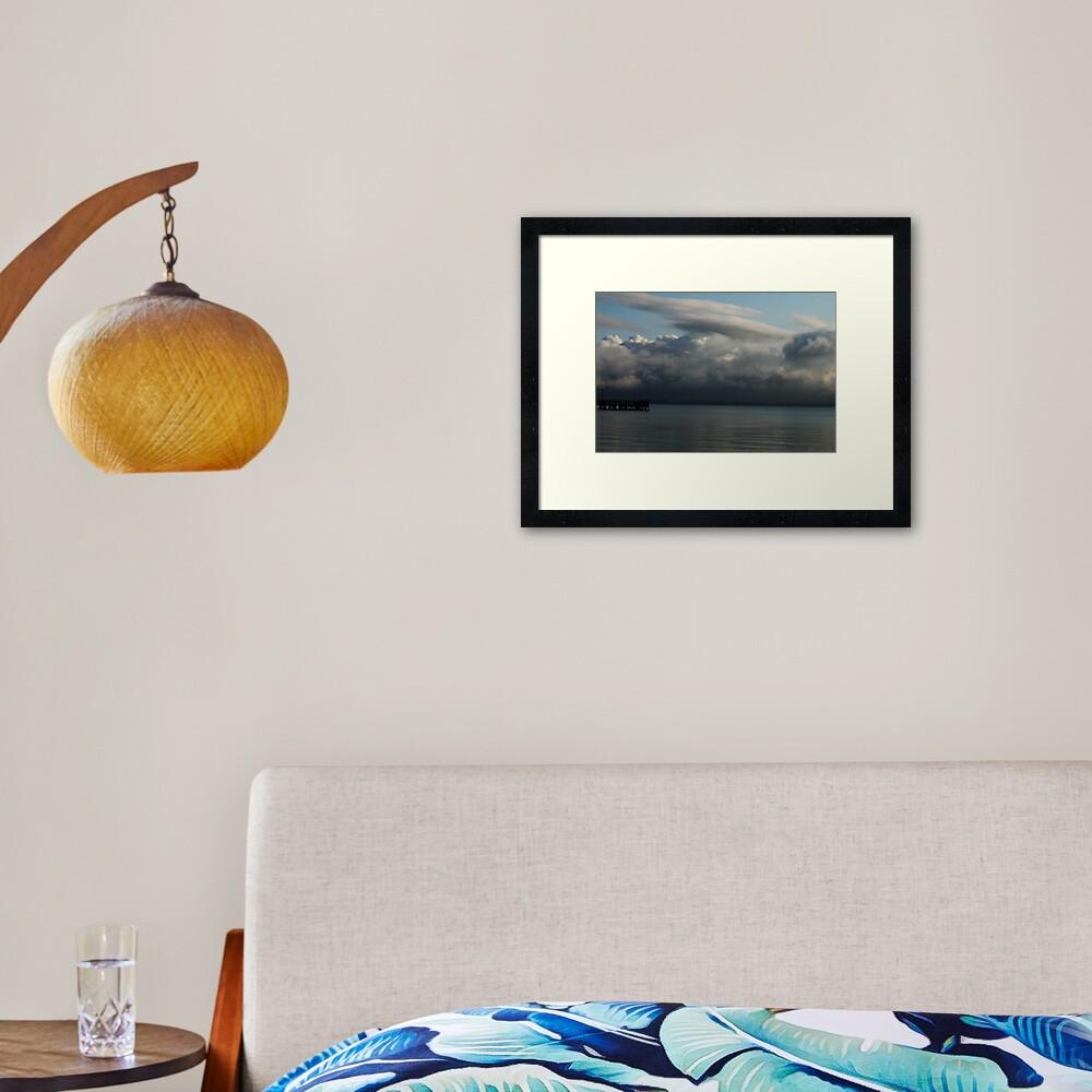Storm's Brewin'  Framed Art Print