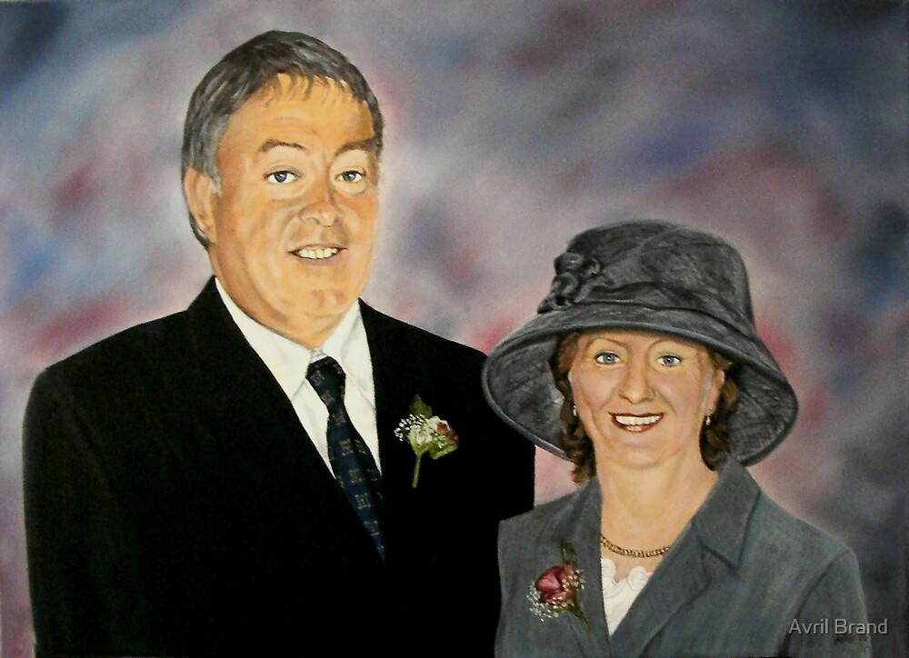 Portrait of Patrick and Anne - oil painting by Avril Brand