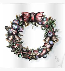 Deck the Halls With Wreaths of Holly... Poster