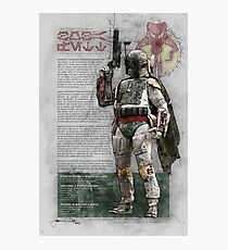 Boba Fett (Bounty Hunter Series) Photographic Print