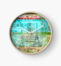 Witty Jane Austen travel quote Clock