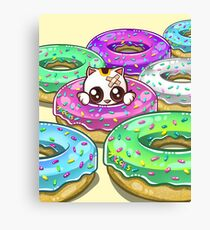 Kitty in Donuts Canvas Print