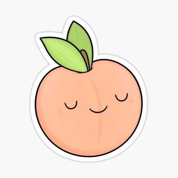 Happy Peach Sticker