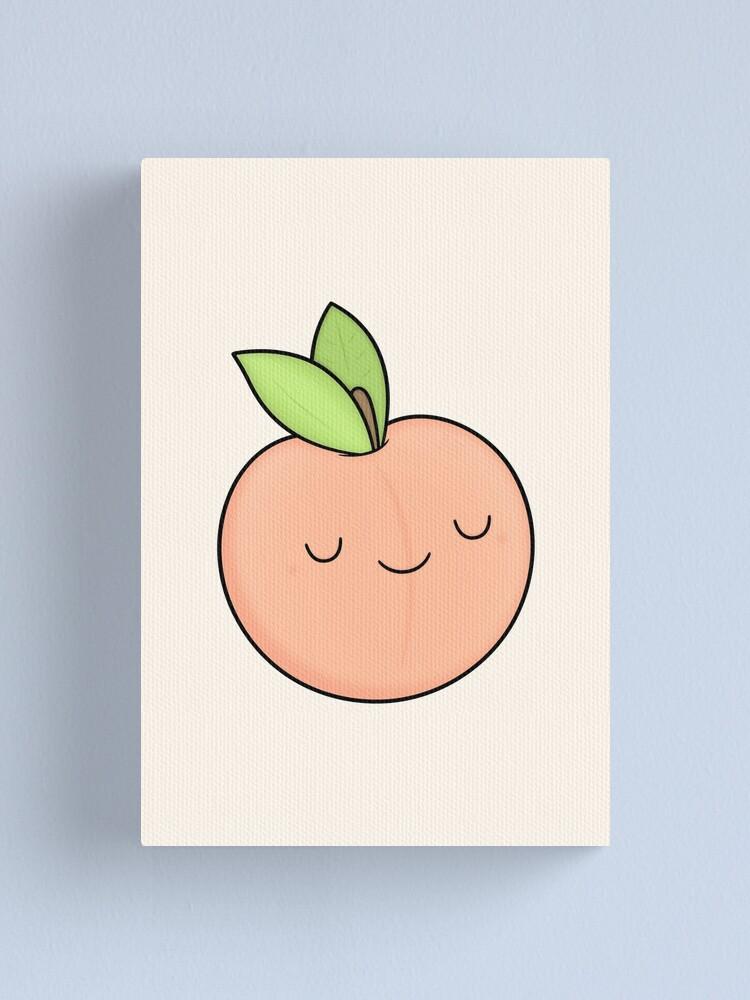 Alternate view of Happy Peach Canvas Print