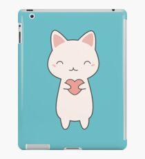 Kawaii Cute Cat With Heart  iPad Case/Skin
