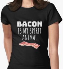 Bacon is my spirit animal Women's Fitted T-Shirt