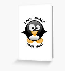 Open Source Open Mind Greeting Card