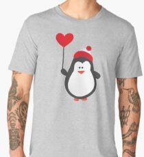 Cute Penguin with Heart Balloon Men's Premium T-Shirt