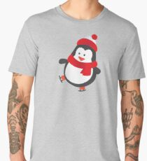 Cute Penguin on Ice Skates Men's Premium T-Shirt