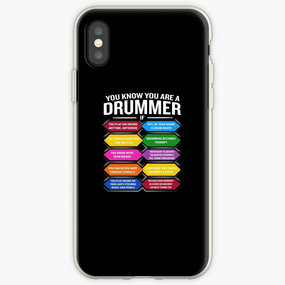 Eres un baterista si la cita divertida del tambor muestra los 10 mejores signos Vinilos y fundas para iPhone